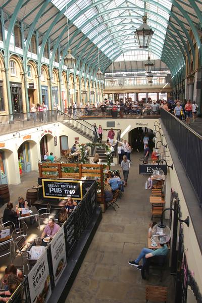 Inside Covent Garden Market London September 2017