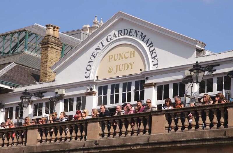 Punch and Judy Bar Covent Garden Market summer 2017