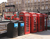 Telephone boxes The Strand London