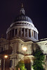 Saint Pauls Cathedral London at night