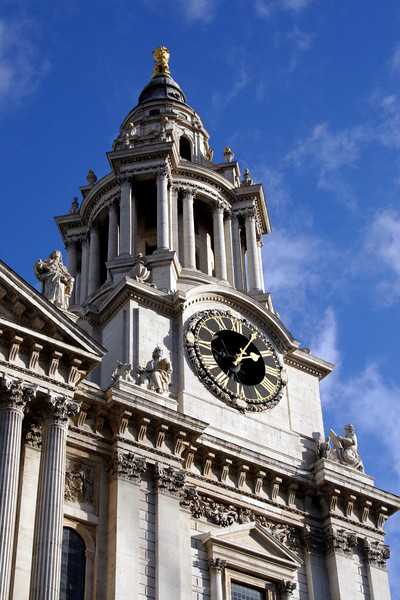 Clock tower of St Paul's Cathedral London