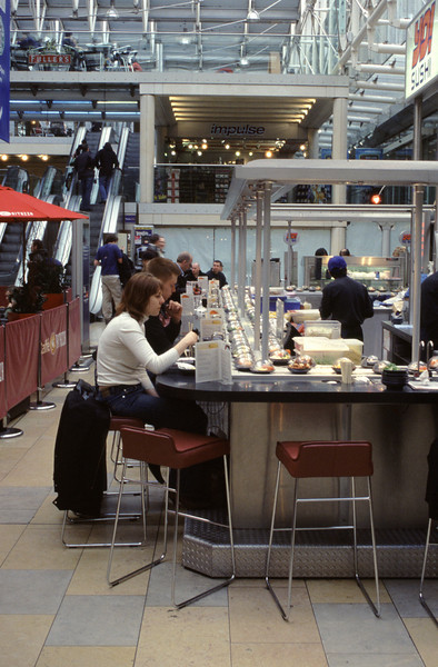 Sushi Bar at Paddington railway station London