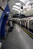 Platform at Embankment Underground Station London
