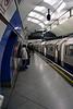 Platform at Embankment Underground Station London