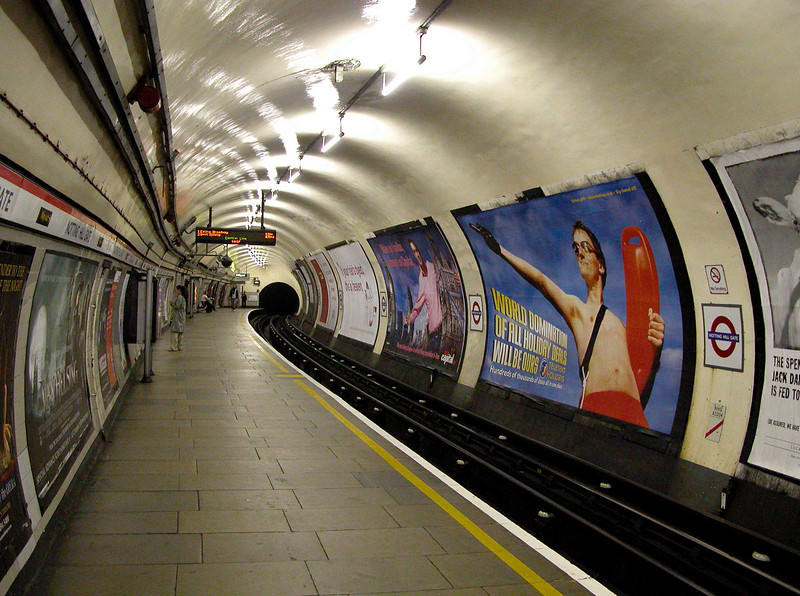 Notting Hill Gate tube station London