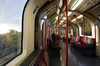 Riding the Central Line Tube towards Ealing Broadway London
