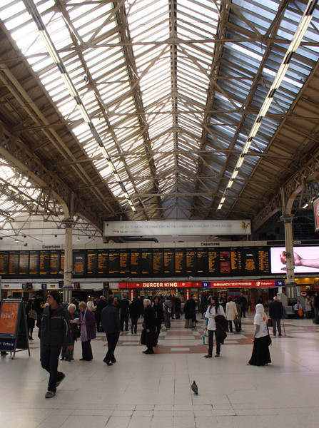 Victoria railway station London