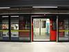 Tube at Canary Wharf tube station London