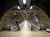 Pedestrian tunnel at Waterloo underground station London