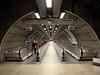 Pedestrian tunnel at Waterloo underground station London