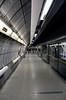 Platform at Westminster Underground Station London