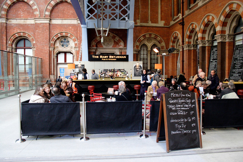 The Baby Betjeman pub at St Pancras Station London