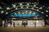 Entrance to Canary Wharf underground station London