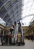Escalator at St Pancras International Railway Station London