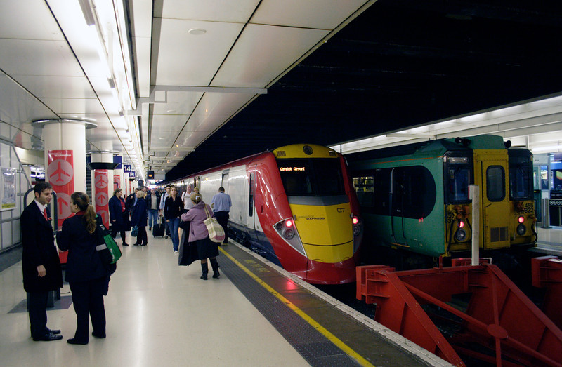 Gatwick shuttle train at Victoria Station London