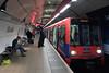 Docklands Light Railway at Bank Underground Station London