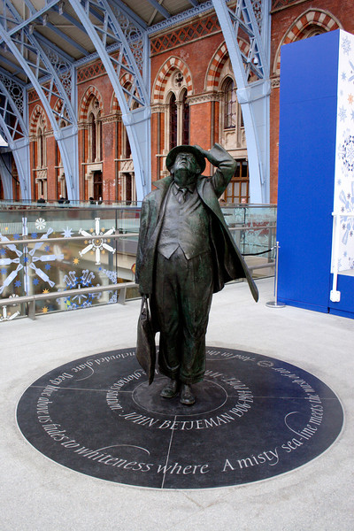 John Betjeman Statue at St Pancras International Station London