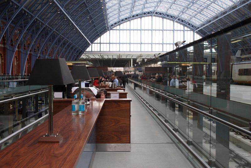 Cafe at St Pancras International Railway Station London