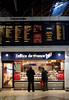 Sandwich stall at Victoria railway station London