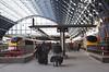 Eurostar locomotives at St Pancras International railway Station London