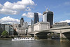 London Bridge and skyline view from River Thames