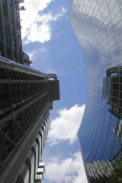 Willis Building and Lloyds building in the City of London