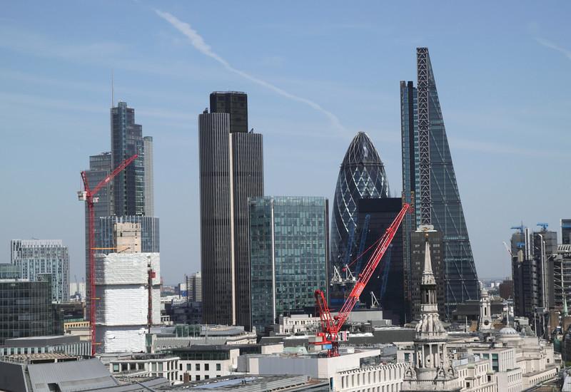 London financial district skyline 2014