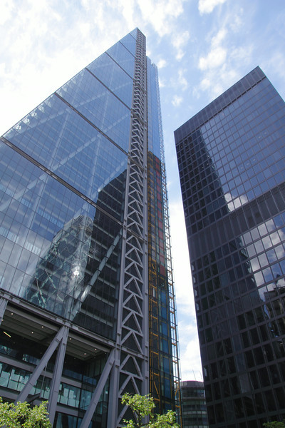 The Leadenhall Building also known as the Cheesegrater in the City of London