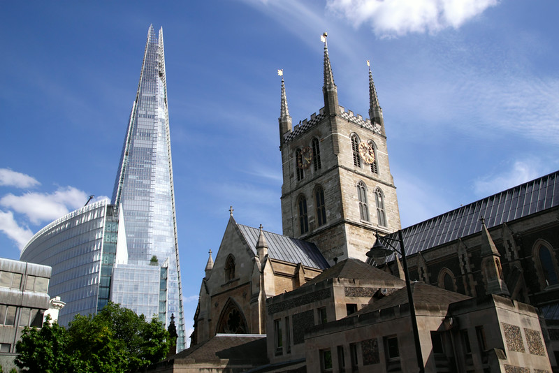 The Shard and Southwark Cathedral London