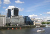 London skyline view from River Thames South Bank