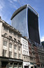 The 20 Fenchurch Street Walkie Talkie Building with temporary sunshade London