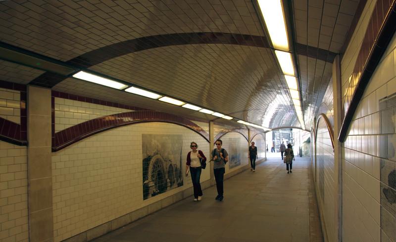 Subway beneath Blackfriars Bridge South Bank London