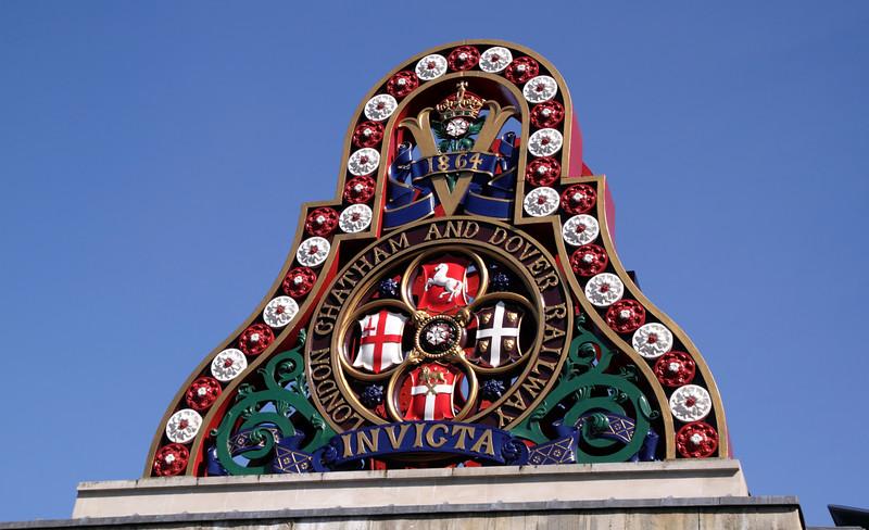 London Chatham and Dover Railway emblem at the South Bank London