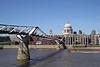 Millennium bridge over River Thames London
