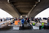 Book market under Waterloo Bridge South Bank London
