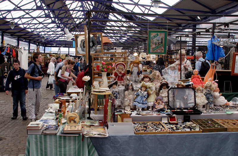 Dolls Stall at Greenwich Market London June 2008