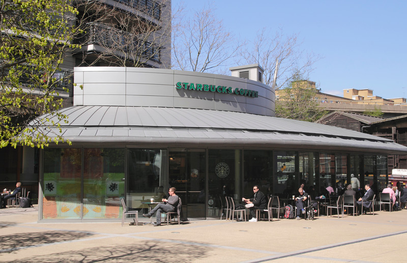 Starbucks Coffee Shop Sheldon Square Paddington London