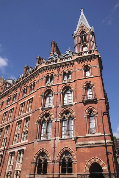 Exterior of St Pancras railway Station London