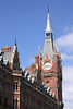 Clock tower at St Pancras railway Station London