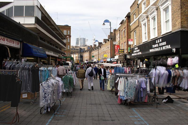 Clothes for sale at Petticoat Lane Market London