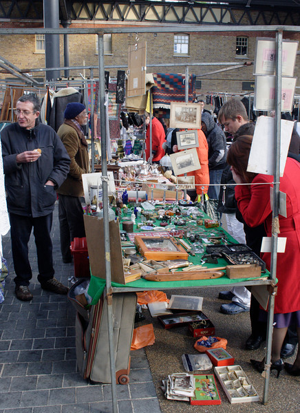 Stall at Old Spitalfields Market London
