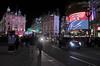 Piccadilly Circus at night London November 2011