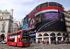 Double decker bus at Piccadilly Circus London March 2012