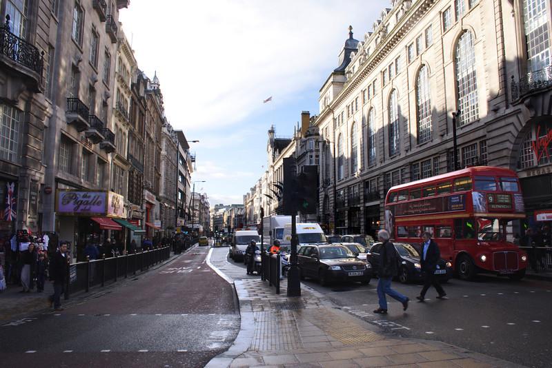 Street Scene Piccadilly London January 2007