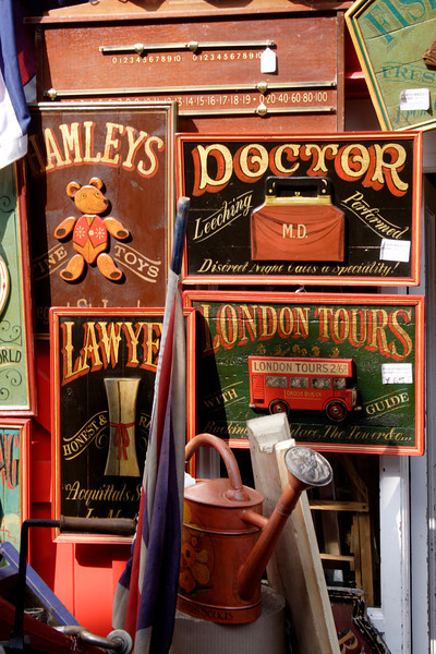 Antiques for sale at Alice's antiques shop Portobello Road London