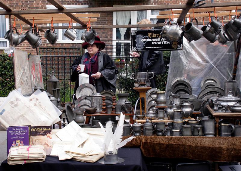 Pewter stall Portobello Road London