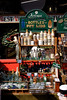 Antique collectable bottles outside Alice's Antiques Shop Portobello Road London