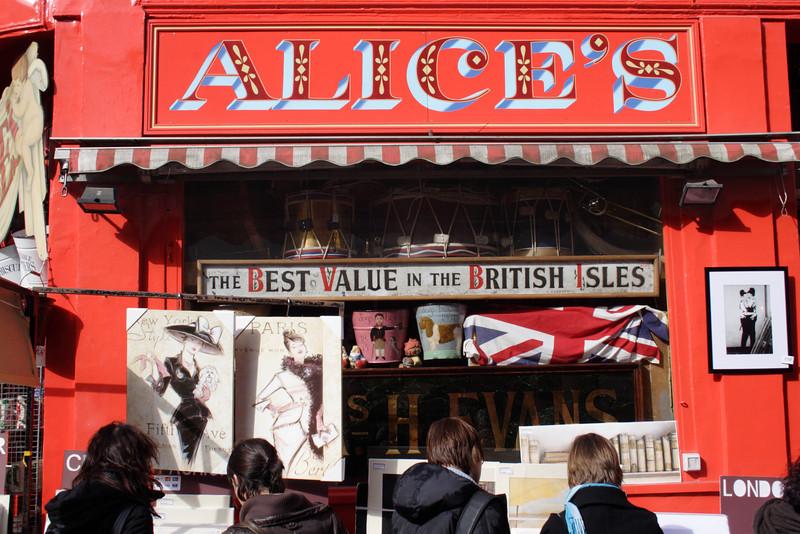 Alice's Antiques shop Portobello Road London