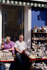 Shopkeepers at antiques shop Portobello Road London March 2009