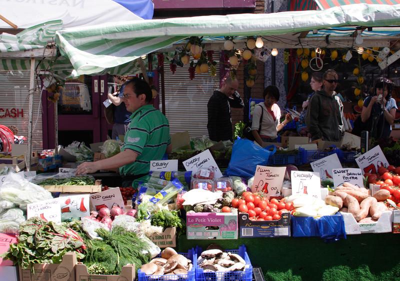 Vegetable stall Portobello Road Market Notting Hill London